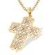 9K Gold Intricate Detail Diamond Cross Pendant (0.20ct) - image 1