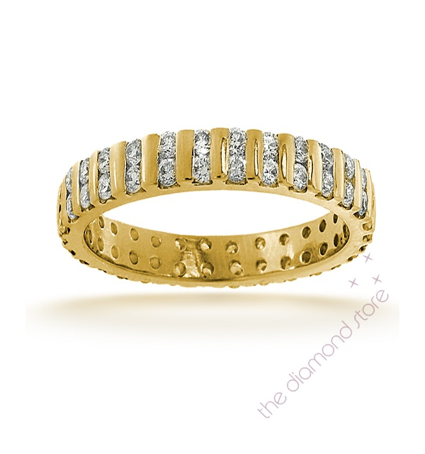 Mens 2ct H/Si Diamond 18K Gold Full Band Ring Item IHG37-422JUA - image 1