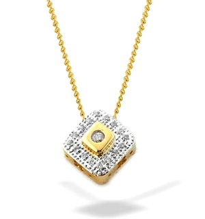 0.18ct Diamond and 18K Gold Slider Pendant - RTC-D3285