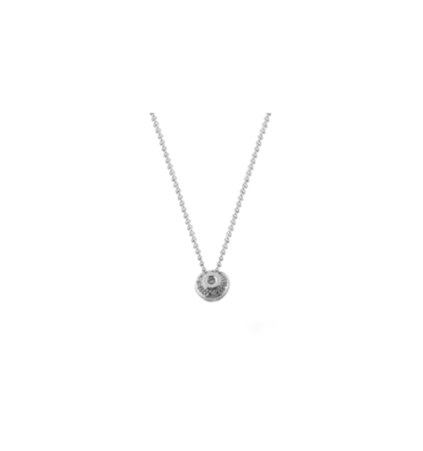 Diamond 0.15ct 18K White Gold Necklace - RTC-D3273 - image 1