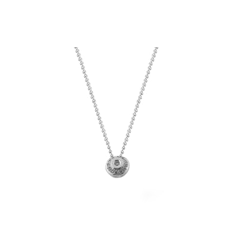 Diamond 0.15ct 18K White Gold Necklace - RTC-D3273 - image 1