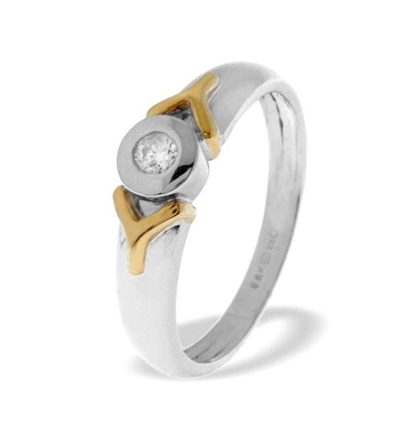 0.10ct Diamond and 9K White Gold Single Stone Ring - RTC-E3695 - image 1