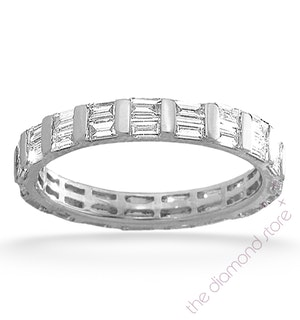 Eternity Ring Jessica Platinum Diamond 2.00ct H/Si