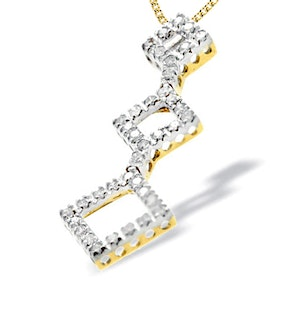 9K Gold Diamond Design Pendant(0.50ct)