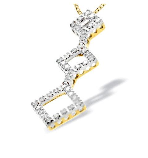 9K Gold Diamond Design Pendant(0.50ct) - image 1