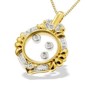 9K Gold Floating Diamond Pendant (0.18ct)