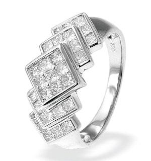 18K White Gold Princess Cut Diamond Ring (1.50ct)