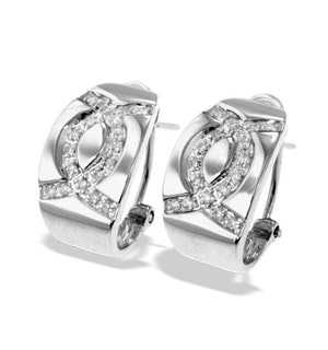 9K White Gold Diamond Detail Earrings(0.27ct)