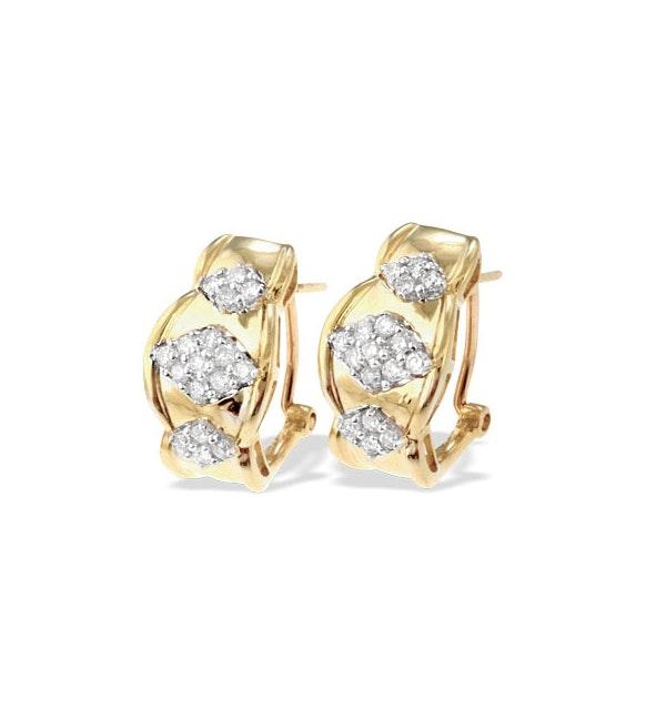 9K White Gold Diamond Detail Earrings(0.47ct) - image 1