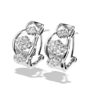 9K White Gold Diamond Detail Earrings(0.47ct)