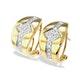 9K Gold Diamond Detail Earrings(0.33ct) - image 1