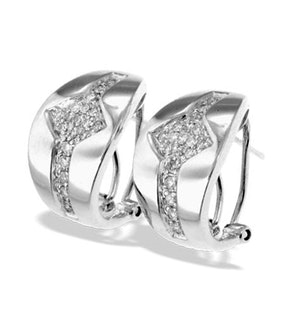 9K White Gold Diamond Detail Earrings(0.33ct)