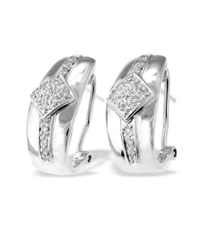 9K White Gold Diamond Design Earrings (0.25ct)