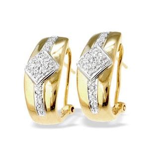 9K Gold Diamond Design Earrings (0.25ct)