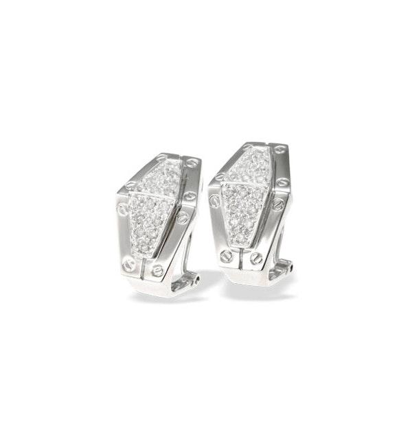 9K White Gold Diamond Design Earrings (0.33ct) - image 1
