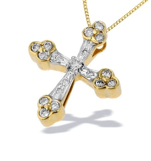 9K Gold Detailed Design Diamond Pendant (0.29ct)