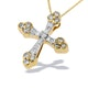 9K Gold Detailed Design Diamond Pendant (0.29ct) - image 1