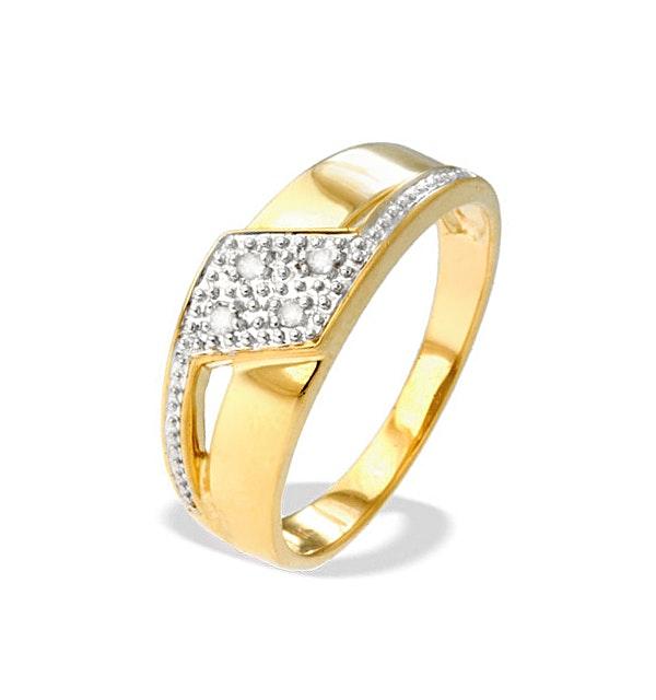 9K Gold Diamond Design Ring(0.04ct) - image 1