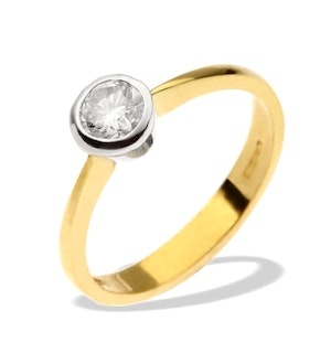 Diamond 0.20ct  and 18K Gold Solitaire Ring - RTC-N3575