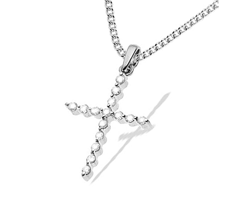 Tension Set Diamond Necklaces and Pendants