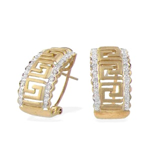 9K Gold Diamond Design Earrings (0.25ct)
