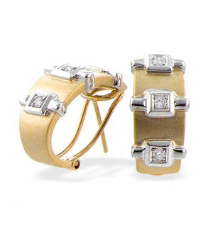 9K Gold Diamond Design Earrings (0.20ct)