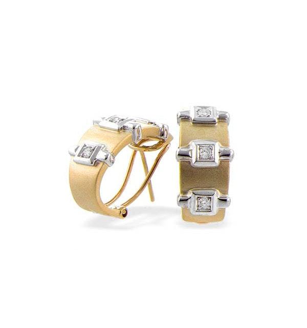 9K Gold Diamond Design Earrings (0.20ct) - image 1