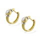 Diamond 0.12ct and 9K Gold Earrings - RTC-H3605 - image 2