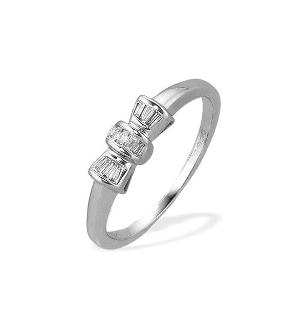 0.14ct Diamond and 9K White Gold Ring - RTC-E3978 - image 1