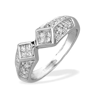 Diamond 0.33ct and 18K White Gold Ring - RTC-N3312