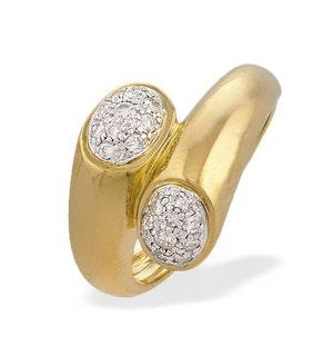 9K Gold Diamond Twist Ring (0.30ct)