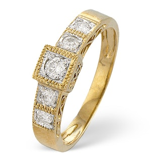 0.31ct Diamond and 9K Gold Ring - RTC-E3120
