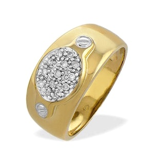 0.13ct Diamond and 9K Gold Ring - RTC-E3186