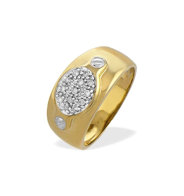 0.13ct Diamond and 9K Gold Ring - RTC-E3186 - image 1