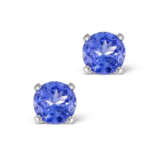 Tanzanite 1.00CT high quality (AA) 925 Silver Earrings - image 1