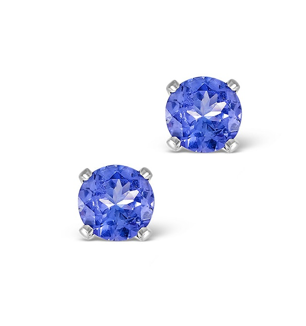 Tanzanite 1.00CT high quality (AA) 925 Silver Earrings - image 1