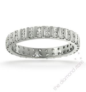 Eternity Ring Ellie 18K White Gold Diamond 1.00ct G/Vs