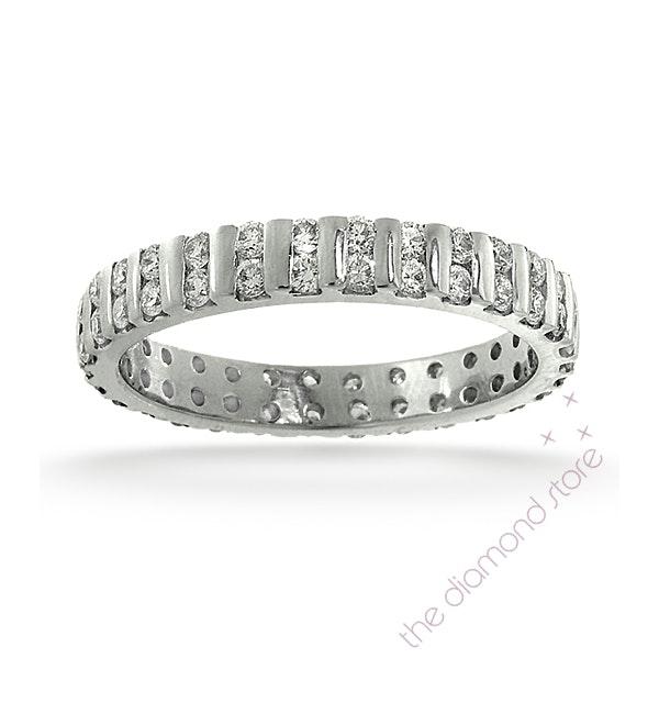 Eternity Ring Ellie 18K White Gold Diamond 1.00ct H/Si - image 1