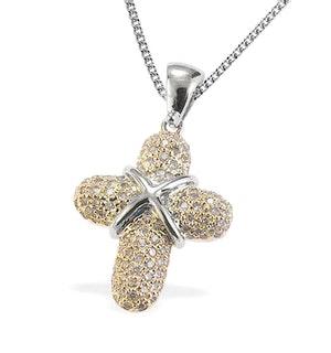 9K Gold Diamond Pave Cross Pendant