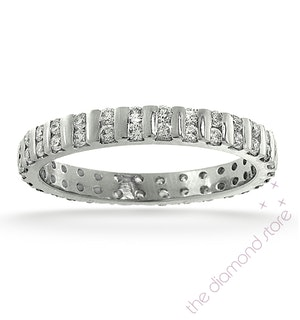 Eternity Ring Ellie Platinum Diamond 0.50ct H/Si