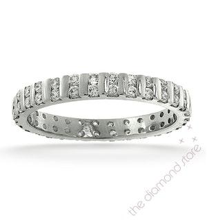 Eternity Ring Ellie 18K White Gold Diamond 0.50ct G/Vs