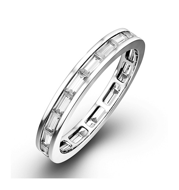 Eternity Ring Lily Platinum Diamond 1.00ct H/Si - image 1