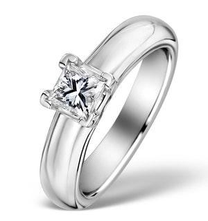 18K White Gold 0.50ct Princess Diamond Solitaire Ring