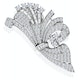 Vintage Platinum 8ct Diamond Brooch - image 1