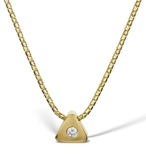 Diamond 0.05ct 9K Gold Necklace - RTC-D3250