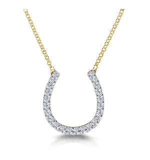 Diamond Half Carat Lucky Horseshoe Necklace in 9K Gold