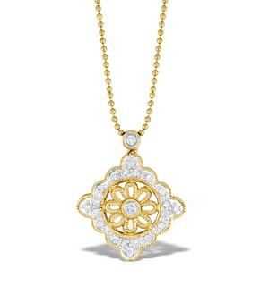 9K Gold Diamond Drop Necklace