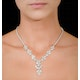 Diamond Necklace - Pyrus - 8.5ct of H/Si Diamonds in 18K White Gold - image 4