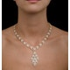 Diamond Necklace Pyrus Chandelier 12.60ct H/Si Diamonds 18K Rose Gold - image 4