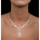 Diamond Necklace Pyrus Halo 11.00ct in 18K Rose Gold - image 4